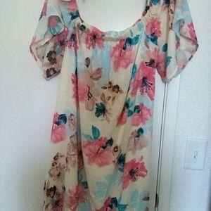 Pink blush XL Dress flowers